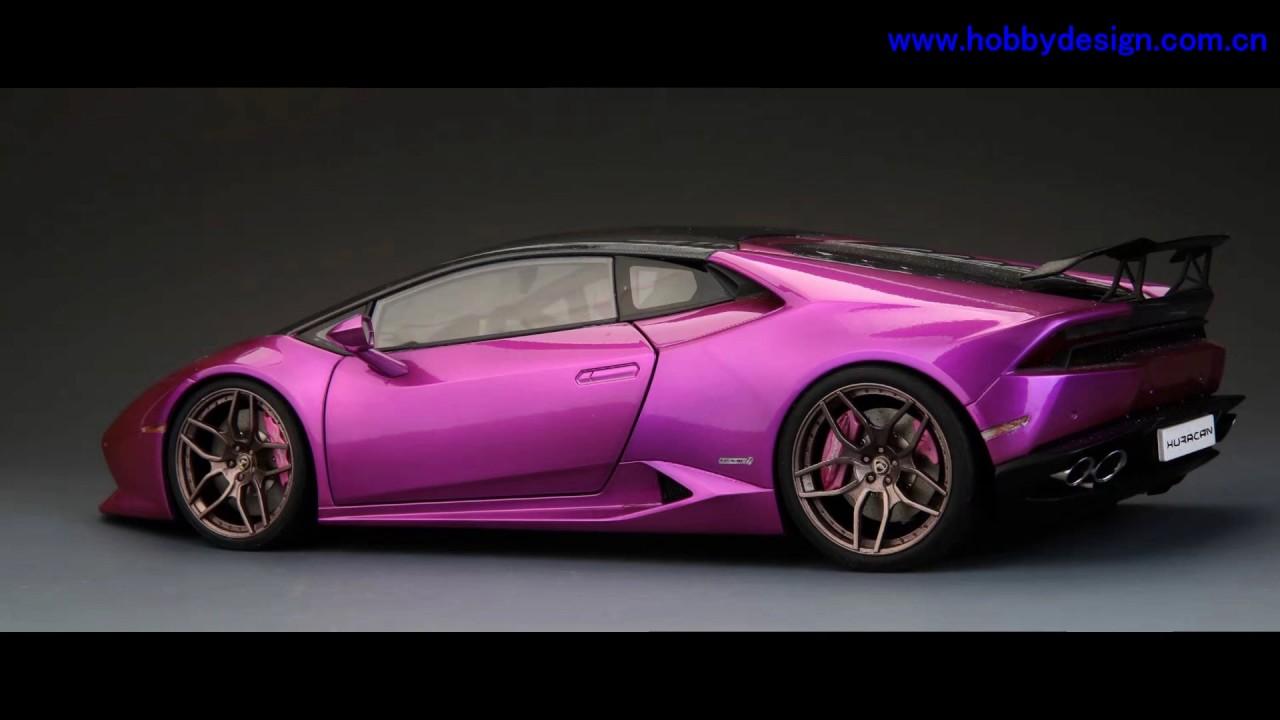 1 18 Lb Lamborghini Huracan Finish Car Model Purple Color Youtube