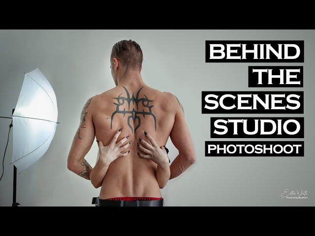 Behind The Scenes Studio Photoshoot -  Elly & Richard | Estee White Photography
