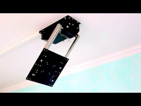 tv deckenhalter flasy fl elektrisch schwenkbar mit fun doovi. Black Bedroom Furniture Sets. Home Design Ideas