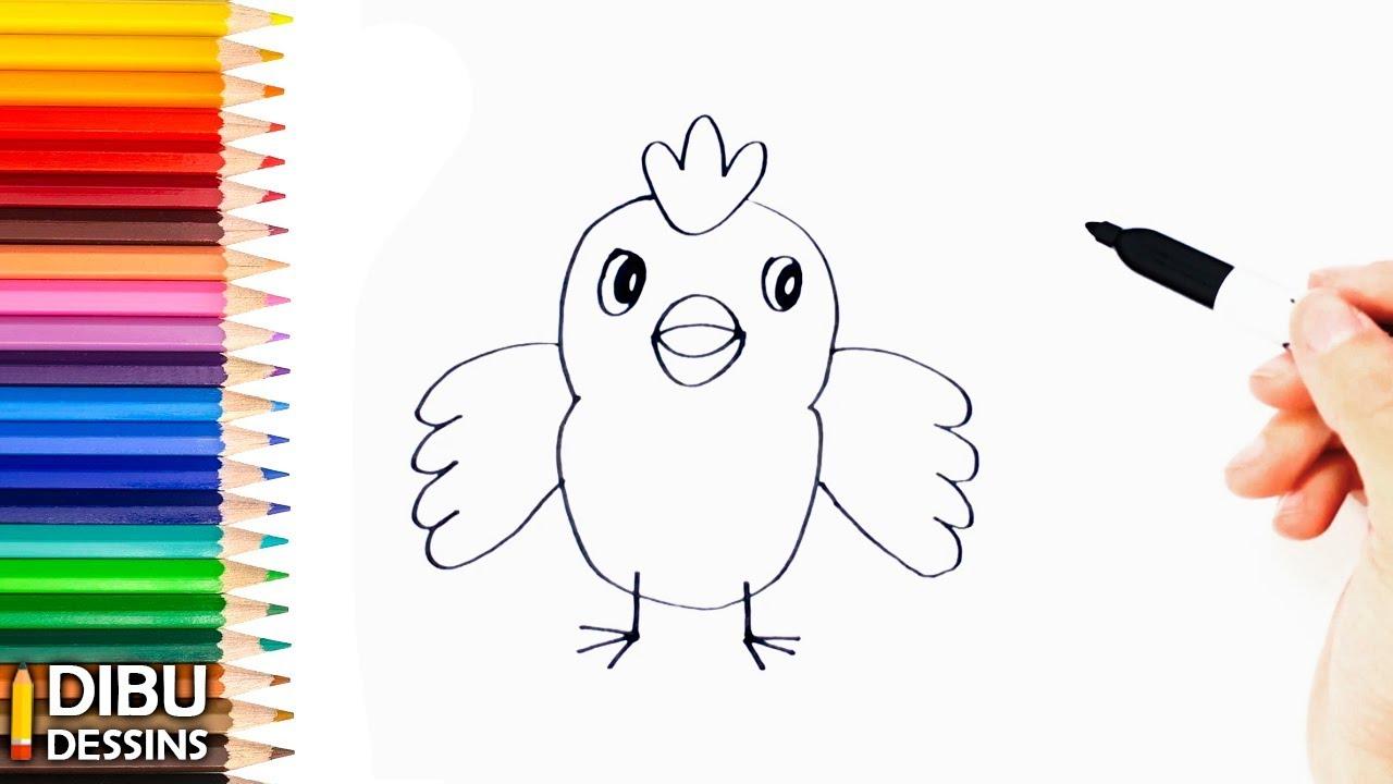 Comment dessiner un oiseau dessin de oiseau tr s facile youtube - Oiseau facile a dessiner ...