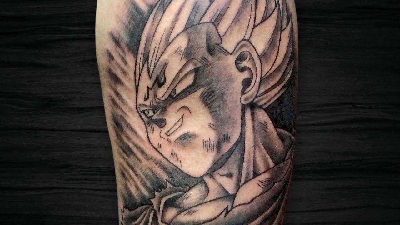 Vegeta Dragon Ball Z Comentado Tattoo Time Lapse 95 Youtube
