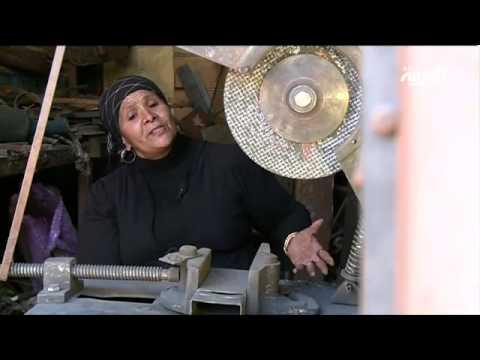 مصرية تعمل في الحدادة منذ أكثر من 20 عاما