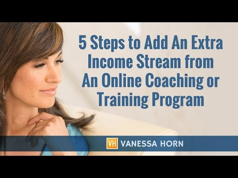 """FREE Training """"How to Create An Additional Income Stream From A Signature Training or Coaching Pr..."""