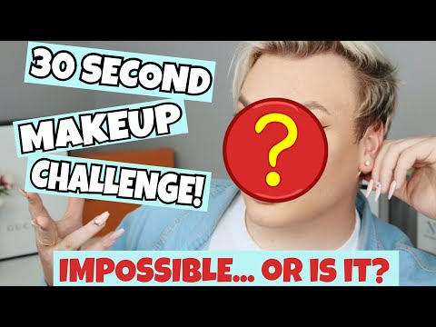 THE 30 SECOND MAKEUP CHALLENGE - HOW?! | Michael Finch