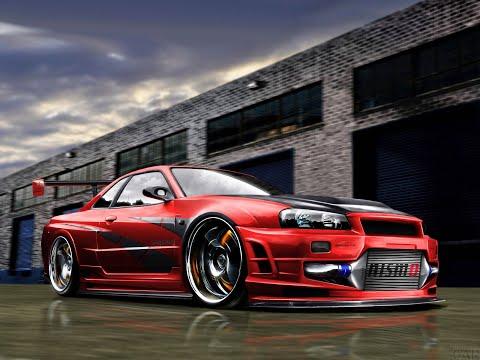 Самый Лучший Тюнинг Nissan Skyline GT-R R34 От Jukoff100. Он Один Такой. Больше Нету Такого В Мире.