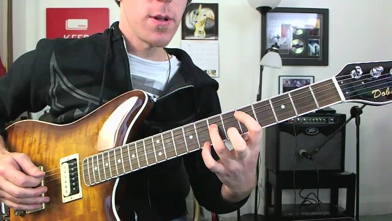 Drop D 9th Chords Electric Guitar Lesson Tutorial Inspired By Foo