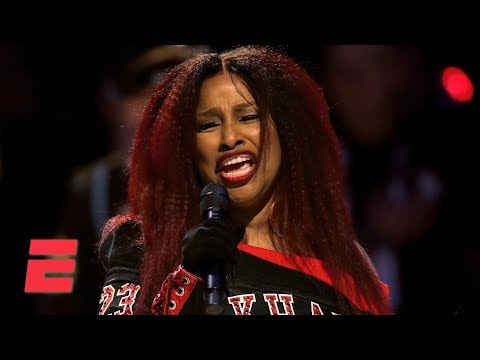Chaka Khan sings the national anthem at the 2020 NBA All-Star Game | ESPN