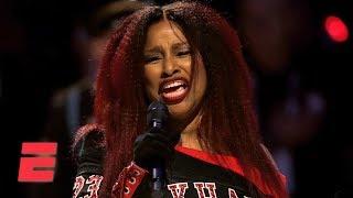 Chaka Khan sings national anthem before 2020 NBA All-Star Game | ESPN
