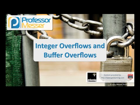 Buffer Overflows and Integer Overflows - CompTIA Security+ SY0-401: 3.5