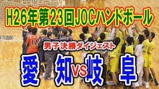 H26年 第23回JOCハンドボール大会愛知VS岐阜(ダイジェスト)(男子決勝トーナメント決勝)