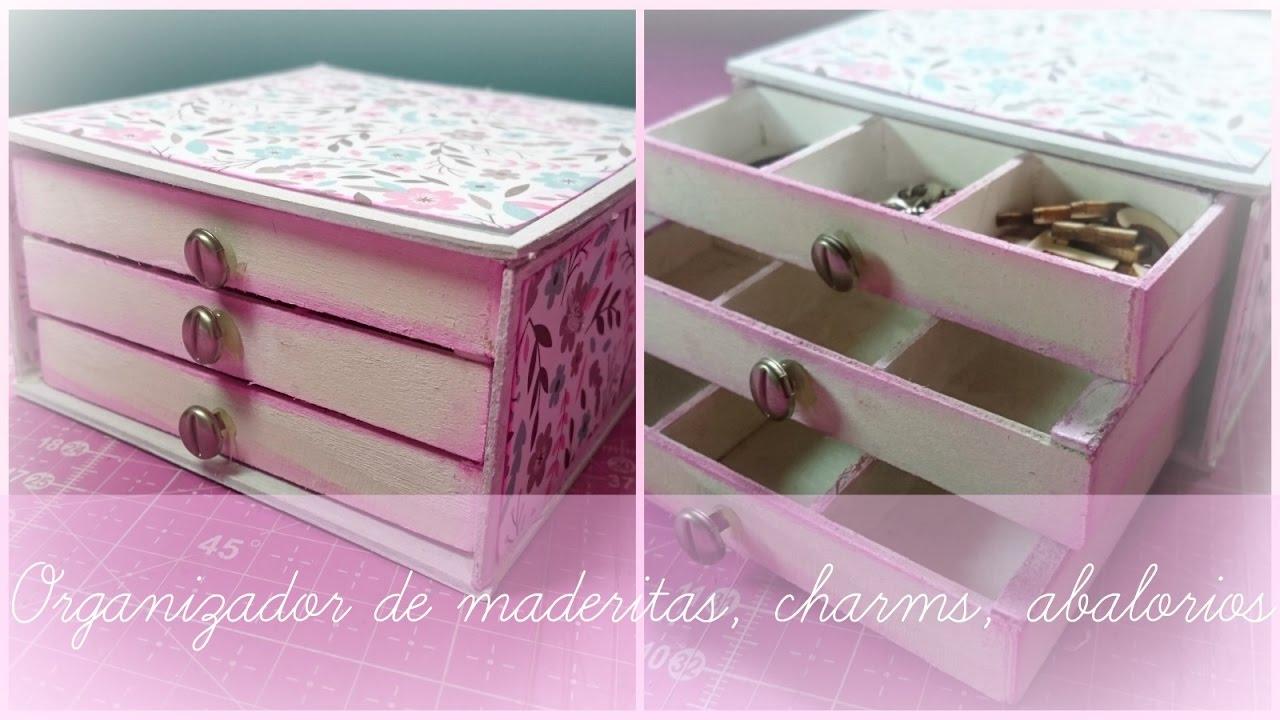 Organizador de maderitas abalorios y miniaturas con - Organizador de papeles ...
