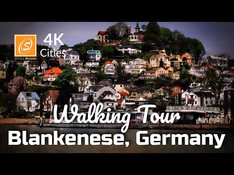 Blankenese City Tour, Hamburg, Germany 4k