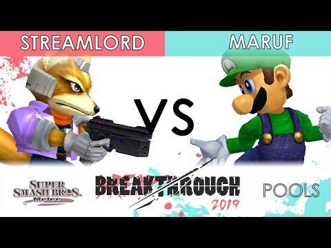 Breakthrough 2019 - 20XX | Streamlord (Fox) VS Maruf (Luigi) - SSBM Pools