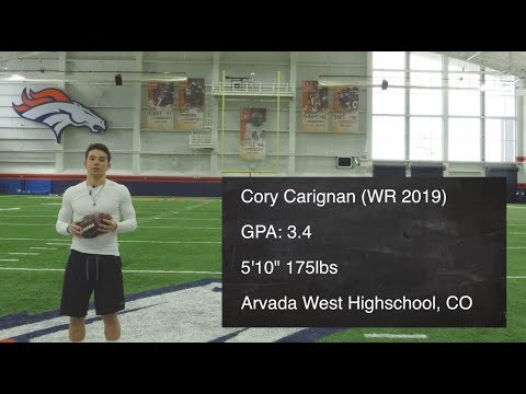 Cory Carignan (WR 2019) Route Tree Workout