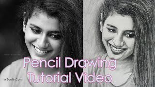 Priya Prakash Varrier   Oru Adar Love Actress   Pencil Drawing Tutorial