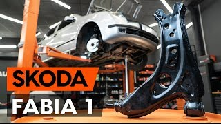 How to replace front suspension arm / front control arm on SKODA FABIA (6Y5) [TUTORIAL AUTODOC]