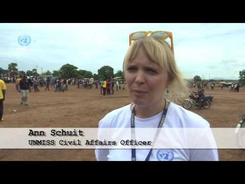 UNMISS Teams up with the Government of South Sudan to Run for Peace