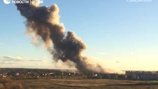 Взрыв на заводе пиротехники под Санкт-Петербургом