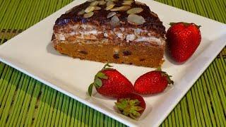 Вафельный торт с зефиром - без выпечки