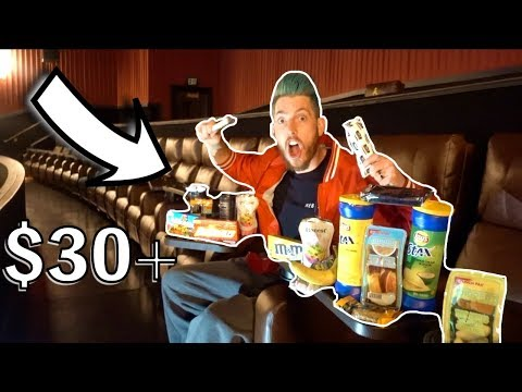 SNEAKING SNACKS IN THE MOVIE THEATER! ($30+)
