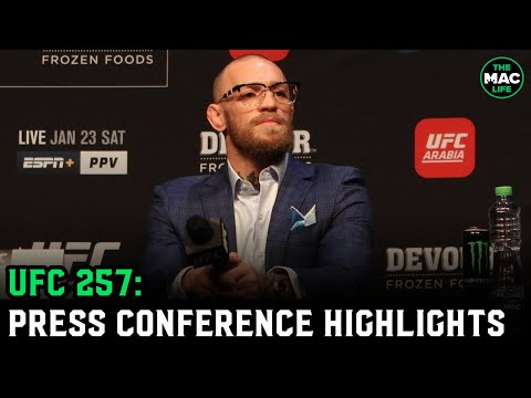 UFC 257: Conor McGregor vs. Dustin Poirier Press Conference (Highlights)
