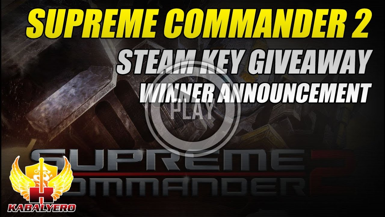 Supreme Commander 2 STEAM Key Giveaway, Winner Announcement