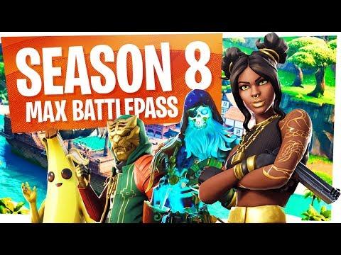 UNLOCKING EVERYTHING in the NEW SEASON 8 Battle Pass - Fortnite Season 8 Battlepass Tier 100 thumbnail