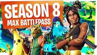 UNLOCKING TOUT dans le NOUVEAU SEASON 8 Battle Pass - Fortnite Saison 8 Battlepass Tier 100