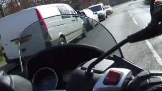 Piaggio MP3 400 rides in Scotland  - music by Finntroll