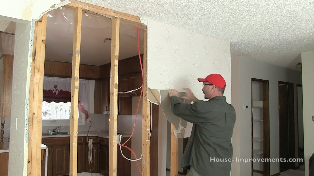 How To Remove Drywall From A Wall Youtube