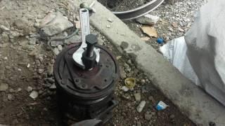 Desarme de embrage polea y bovina del compresor de aire acondicionado del veiculo