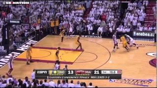 Shane Battier open corner 3 vs. Pacers