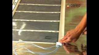 видео Электрический инфракрасный пленочный теплый пол
