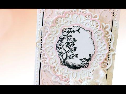 Sue Wilson's Scandinavian Vintage Chic Die & Stamp Mother's Day Card