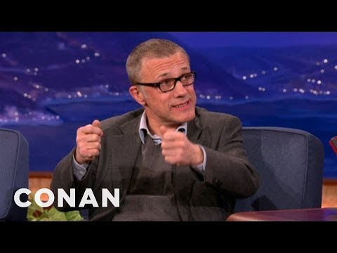 Christoph Waltz Got A Get-Well Present From Jamie Foxx - CONAN on TBS