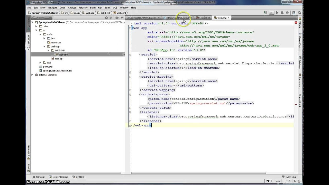 Spring MVC application with Intellij Idea
