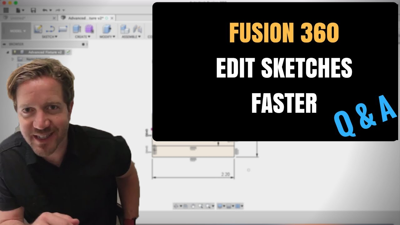 Fusion 360 Tutorial - How To Edit Sketches Faster