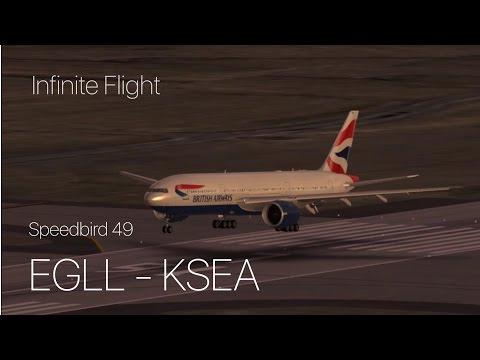Infinite Flight - British Airways 777-200 Heathrow to Seattle