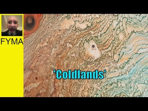 Fluid Acrylic Pouring Technique 'Coldlands'  by Stuart Wimbles