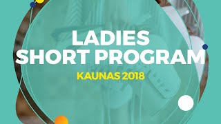 Anastasiia Arkhipova (UKR) | Ladies Short Program | Kaunas 2018