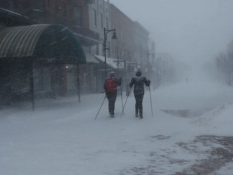 Businesses Close as Snow Blankets Vermont