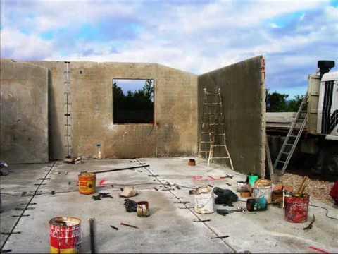 Precostruedile montaggio casa prefabbricata mq 80 in sole 6 ore wwwprecostruedileit  YouTube
