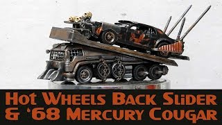 Hot Wheels Custom Post Apocalyptic Car Carrier And Cougar Pursuit Car