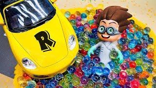 Герои в масках мультик с игрушками. Ромео попал в ловушку! Мультик про машинки на русском языке