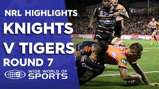 NRL Highlights: Wests Tigers v Newcastle Knights - Round 7
