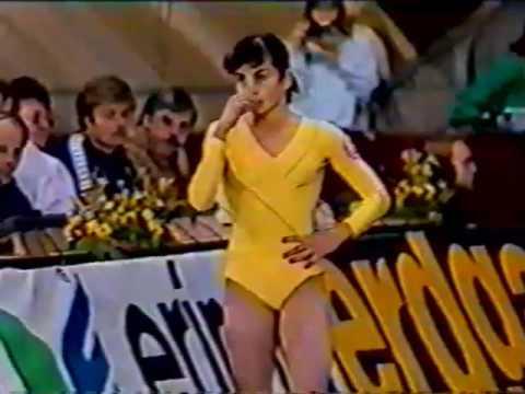 1986 DTB Cup gymnastics W AA (part 1) Silivas Szabo Kartalova Godenko