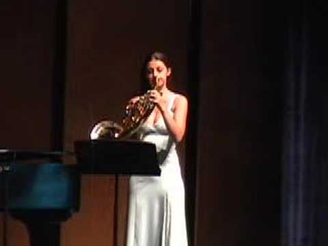 R. Strauss Concerto No. 2 Brigitte Labelle, horn - A performance of R. Strauss' Concerto No. 2 for horn  by Brigitte Labelle, Masters' Candidate, University of Louisiana at Lafayette (USA).