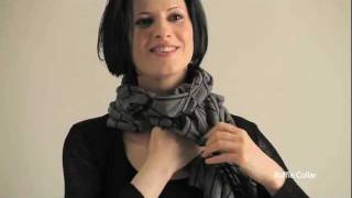 How To Tie a Fall Scarf: EILEEN FISHER