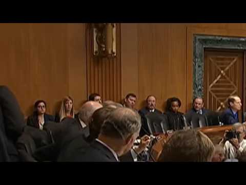 Verbal fight breaks out between Senator Pat Roberts, Ron Wyden, & Pat Roberts in hearings