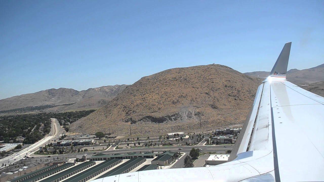Hd American Airlines 737 800 N837nn Landing Reno Tahoe